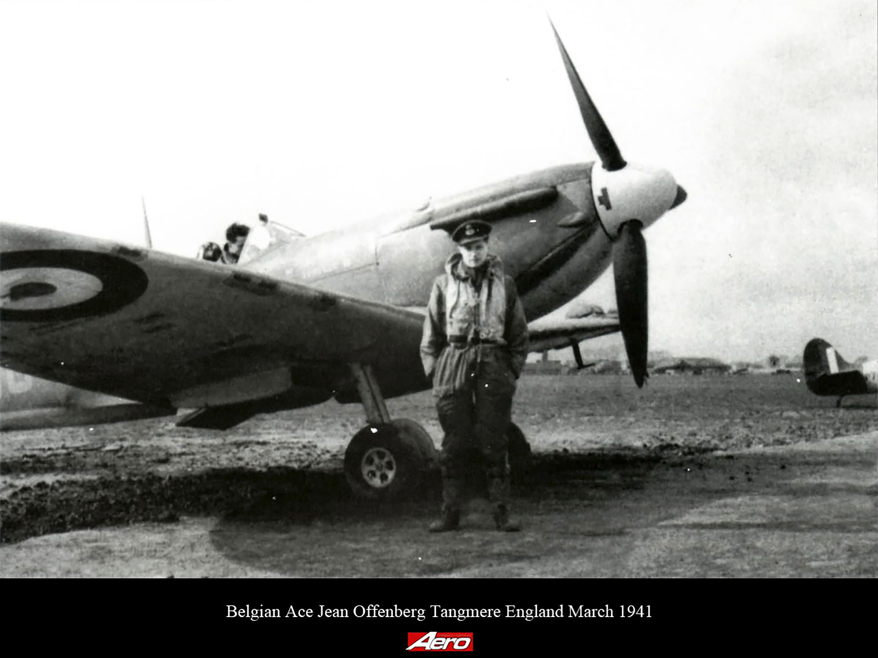 Aircrew RAF 145 Squadron Belgian Ace Jean Offenberg Tangmere England March 1941 02