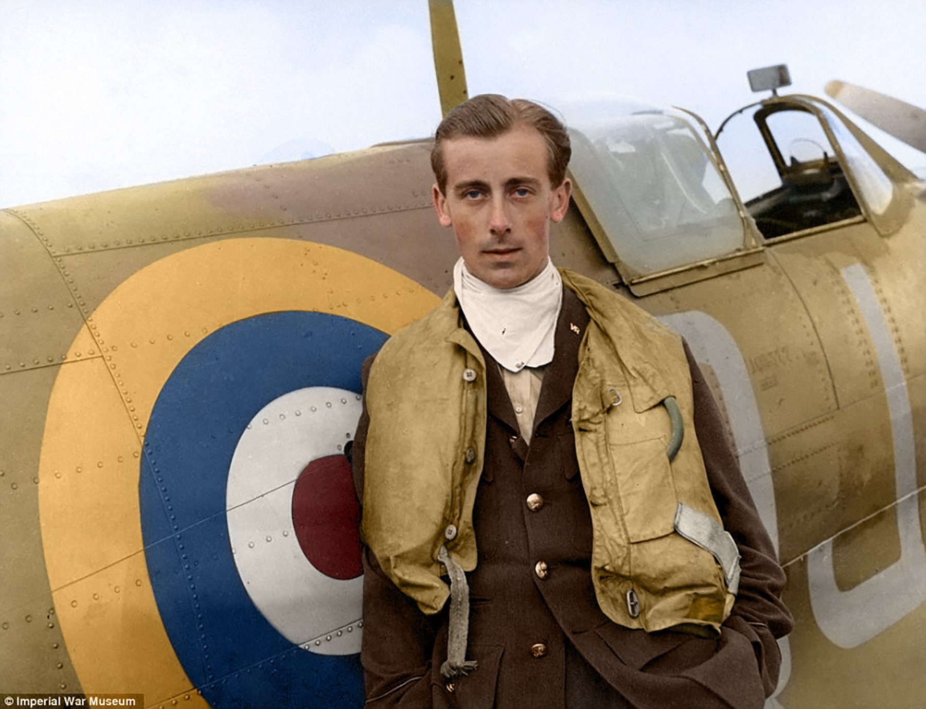 Aircrew RAF Neville Duke during Battle of Britain at RAF Biggin Hill 1941 01