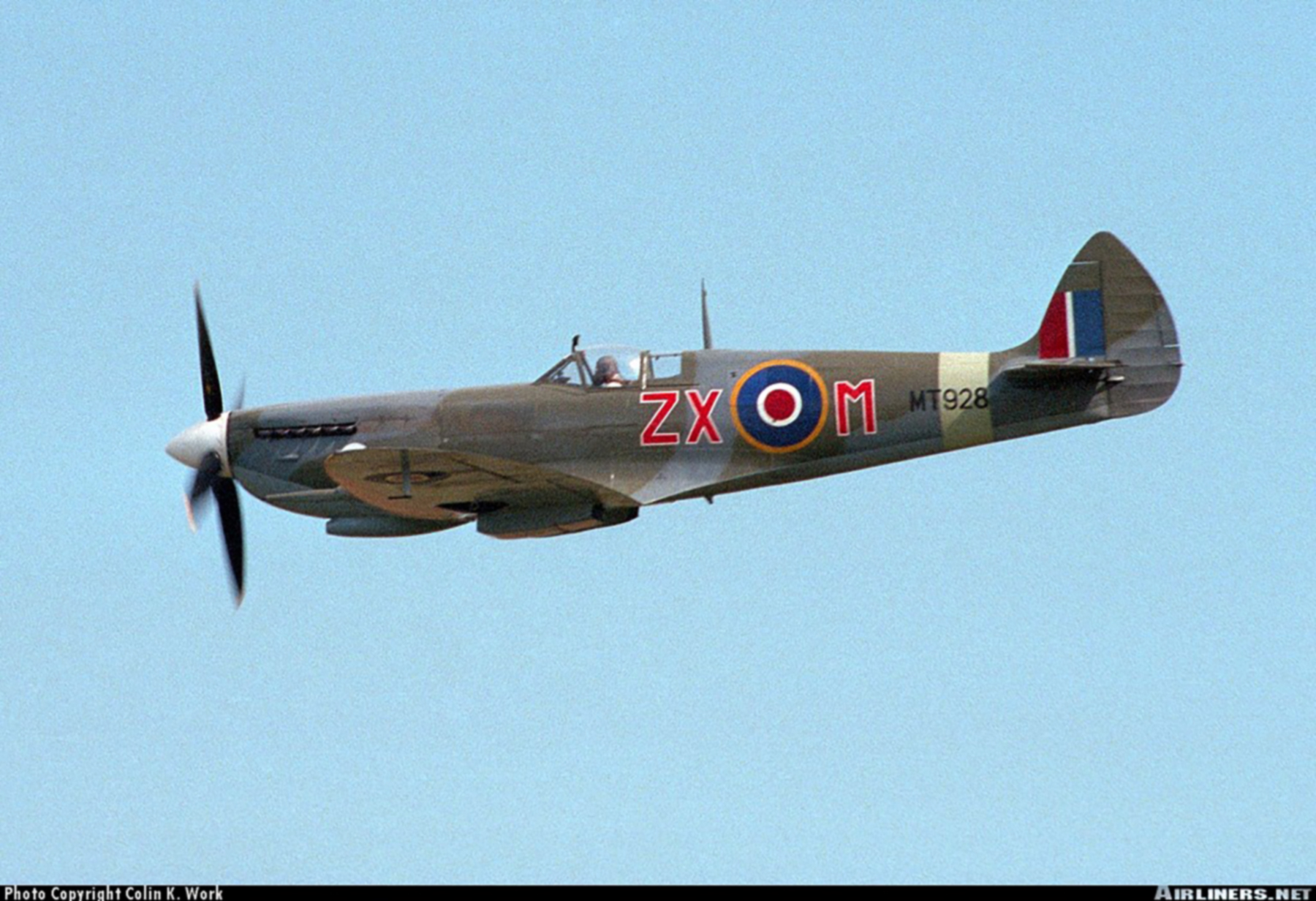 Airworthy Spitfire warbird MkVIII RAF 145Sqn ZXM MT928 03
