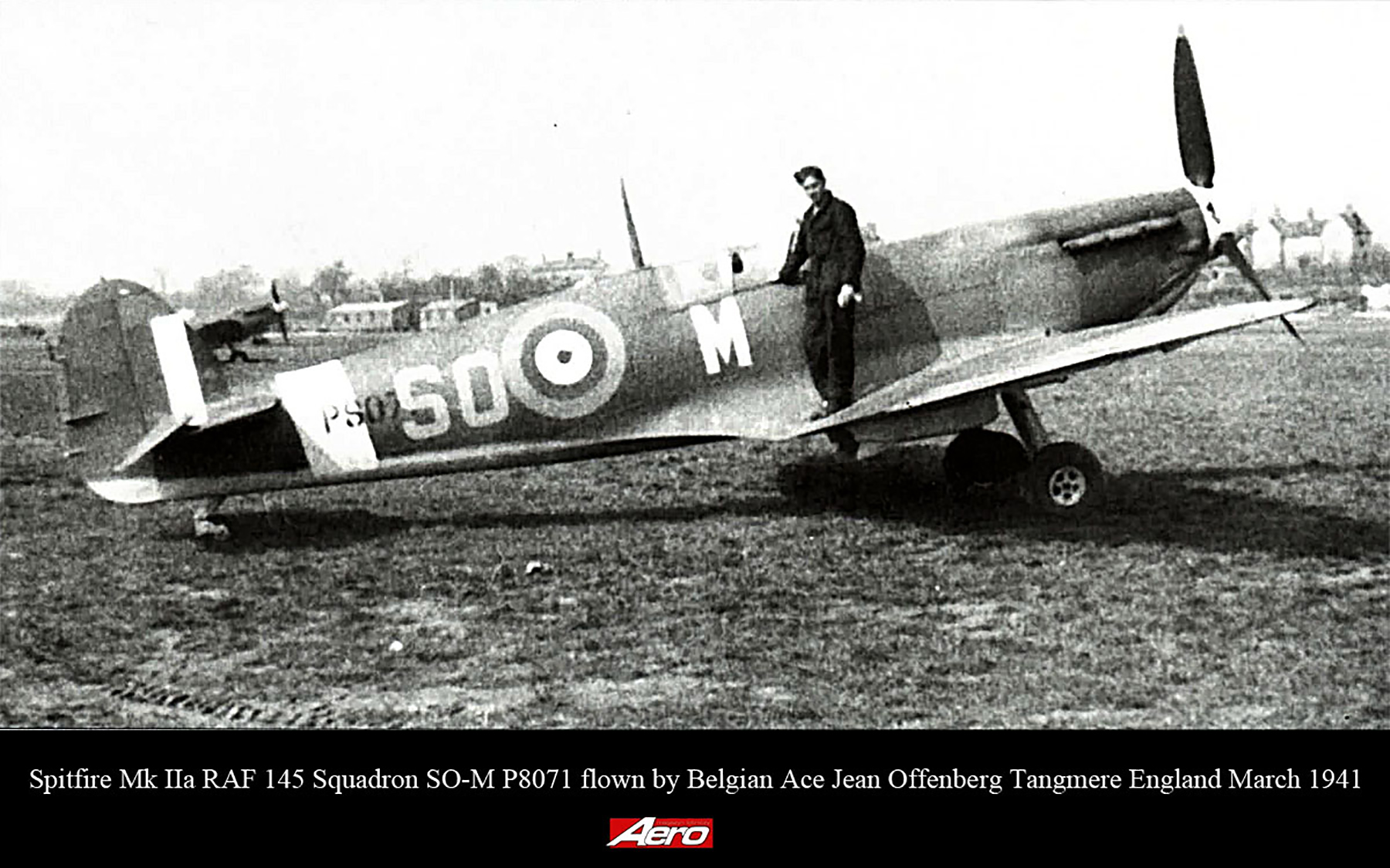 Spitfire MkIIa RAF 145Sqn SOM P8071 Jean Offenberg Tangmere England March 1941 01