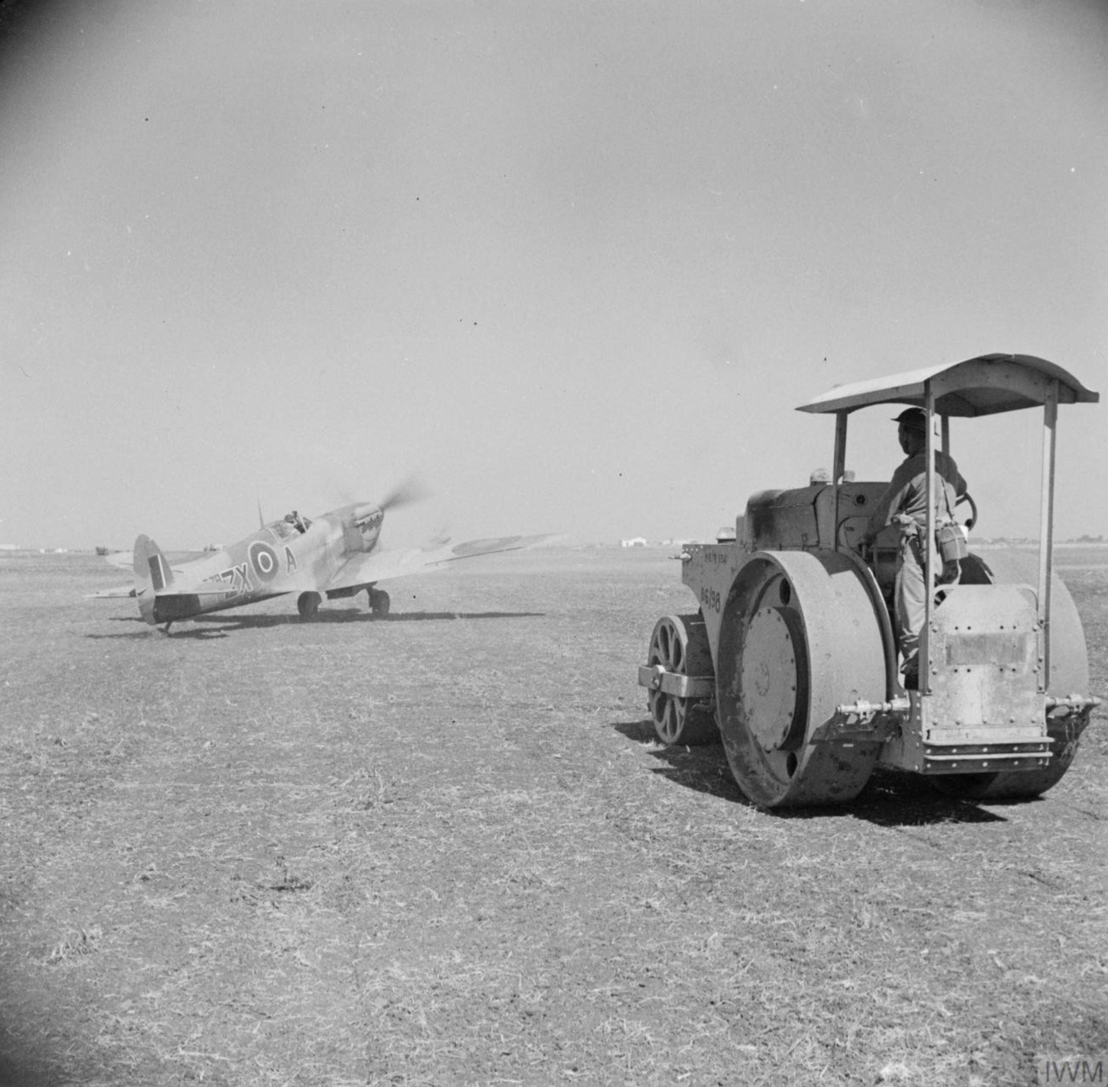 Spitfire MkVb RAF 145Sqn ZXA at Pachino Sicily IWM NA4293