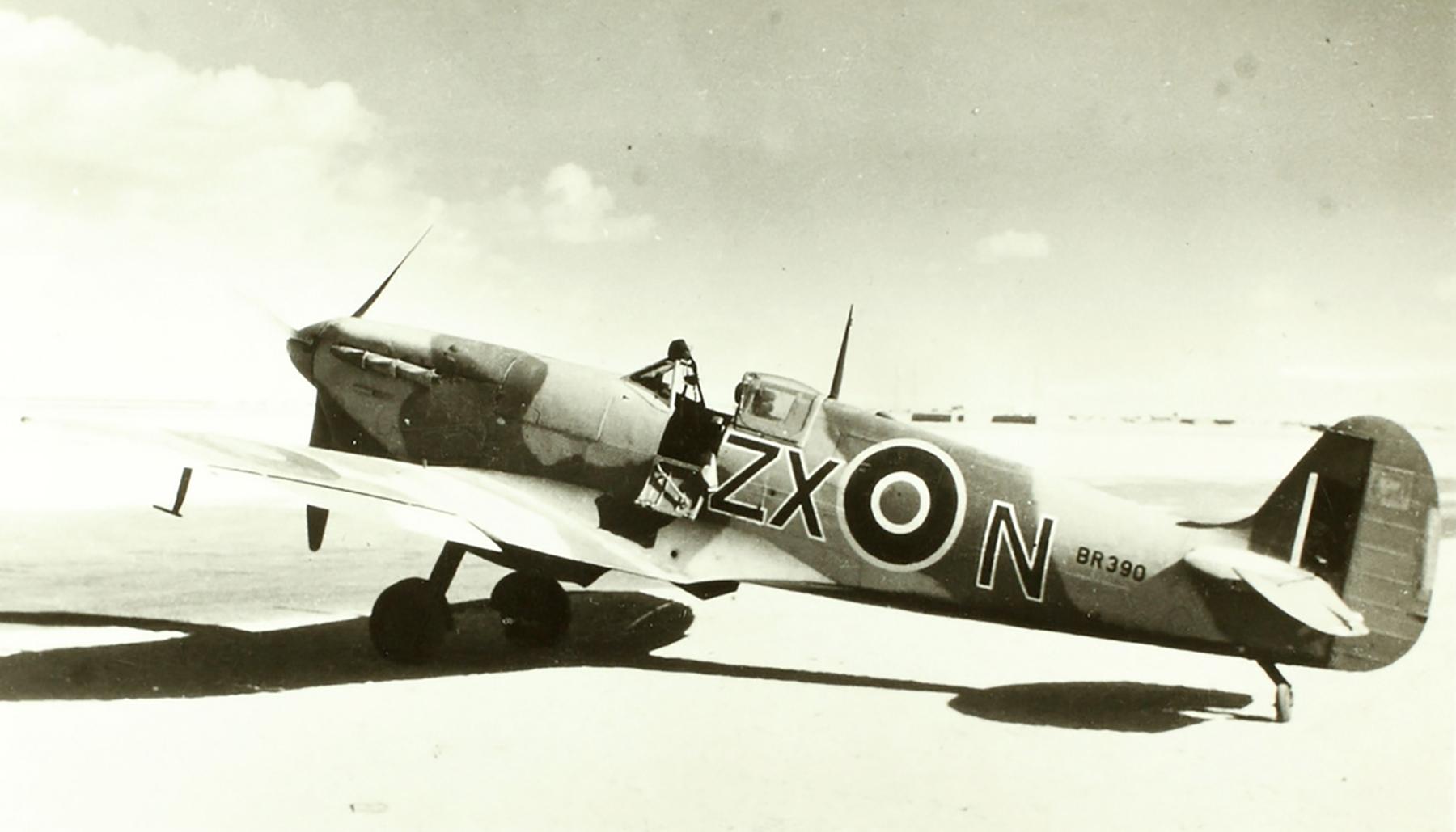 Spitfire MkVcTrop RAF 145Sqn ZXN BR390 Jul Sep 1942 01
