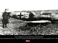 Asisbiz Downed Bf 109E4 1.JG2 (W9+) Herman Reifferscheidt Werk Nr 5159 force landed 1st Nov 1940