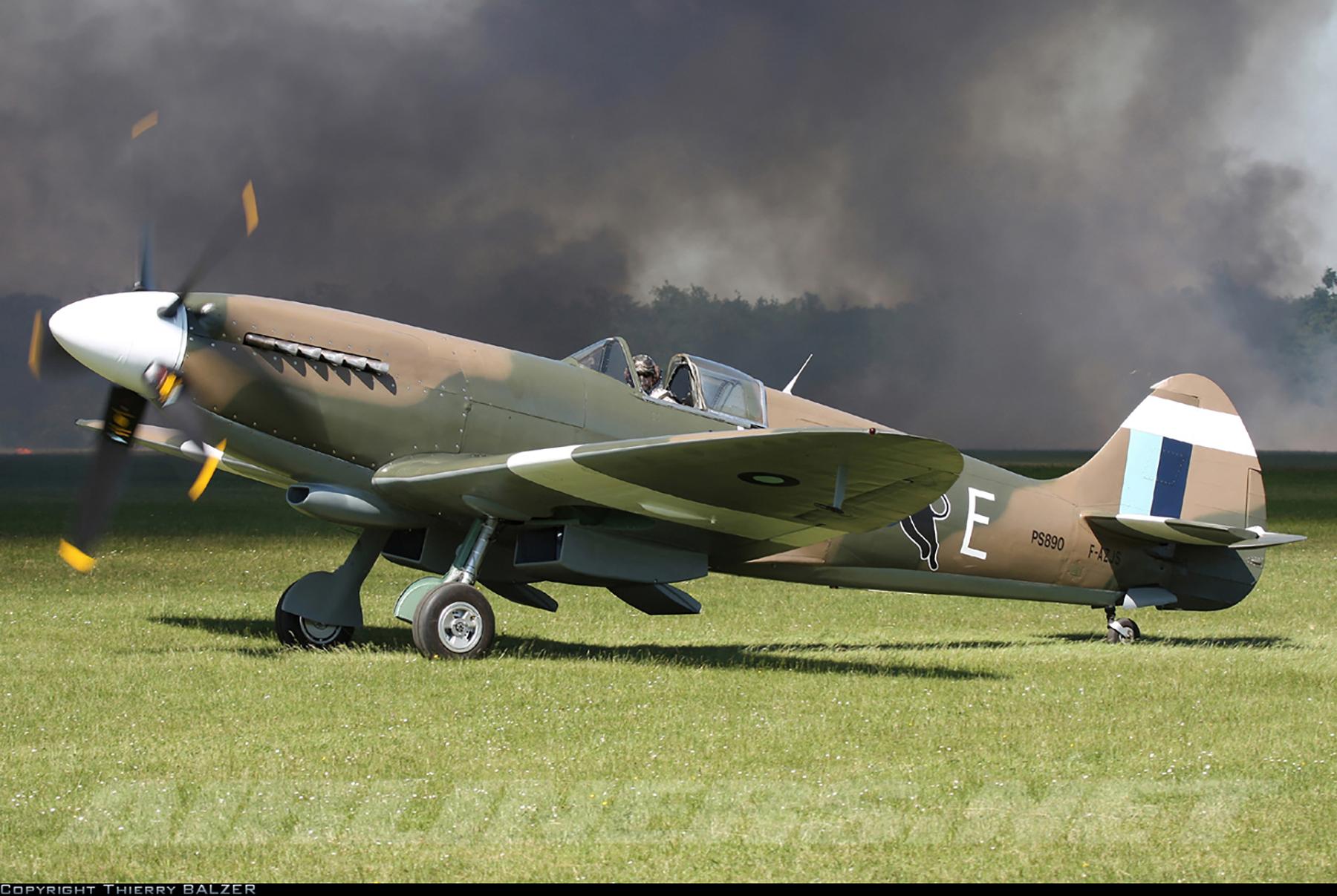 Airworthy Spitfire warbird PR19 PS890 as RAF 152Sqn UME 01