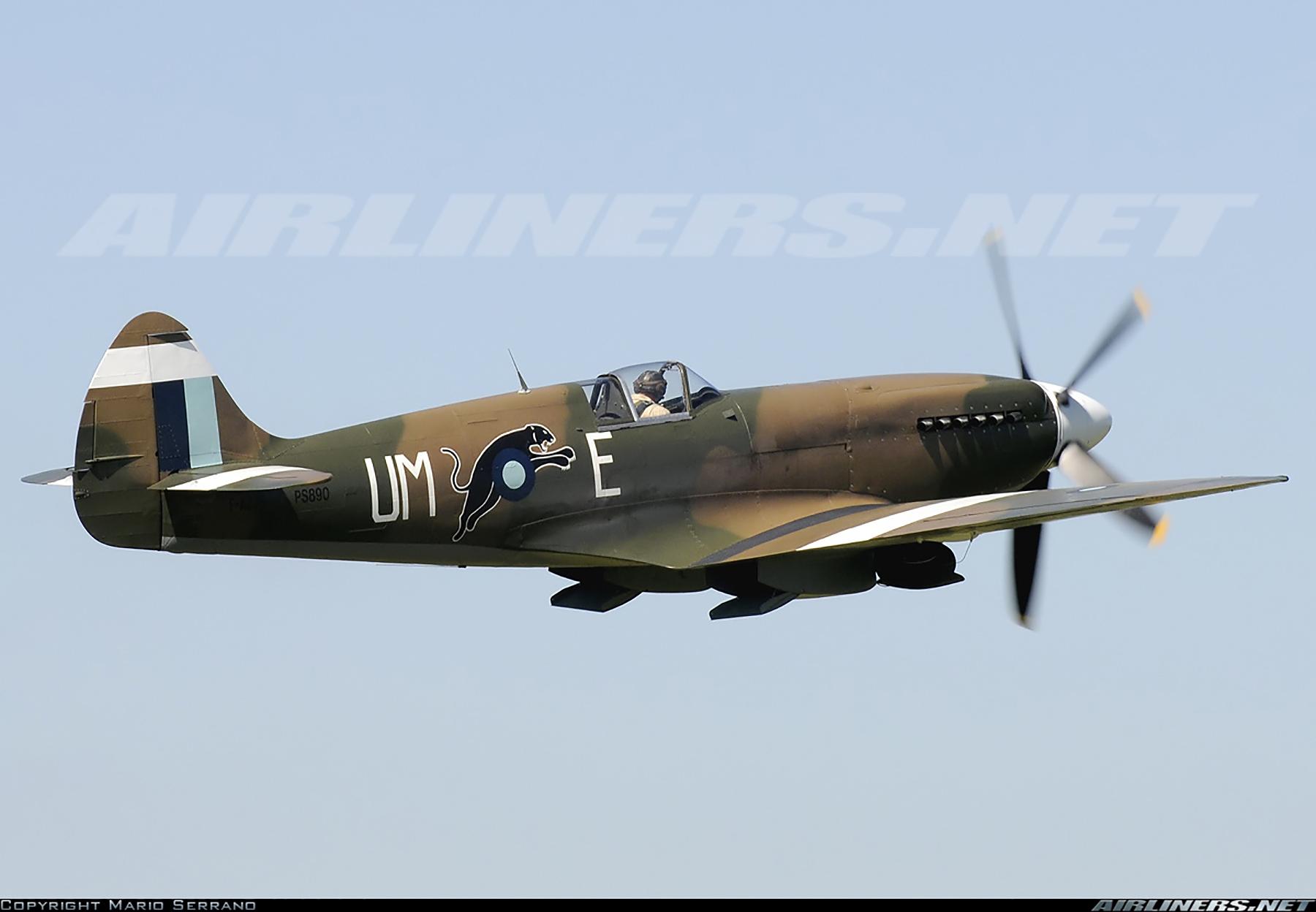 Airworthy Spitfire warbird PR19 PS890 as RAF 152Sqn UME 05