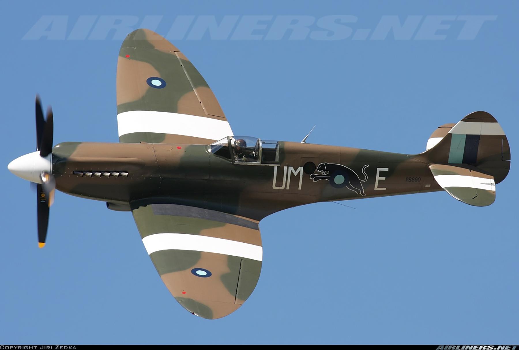 Airworthy Spitfire warbird PR19 PS890 as RAF 152Sqn UME 09