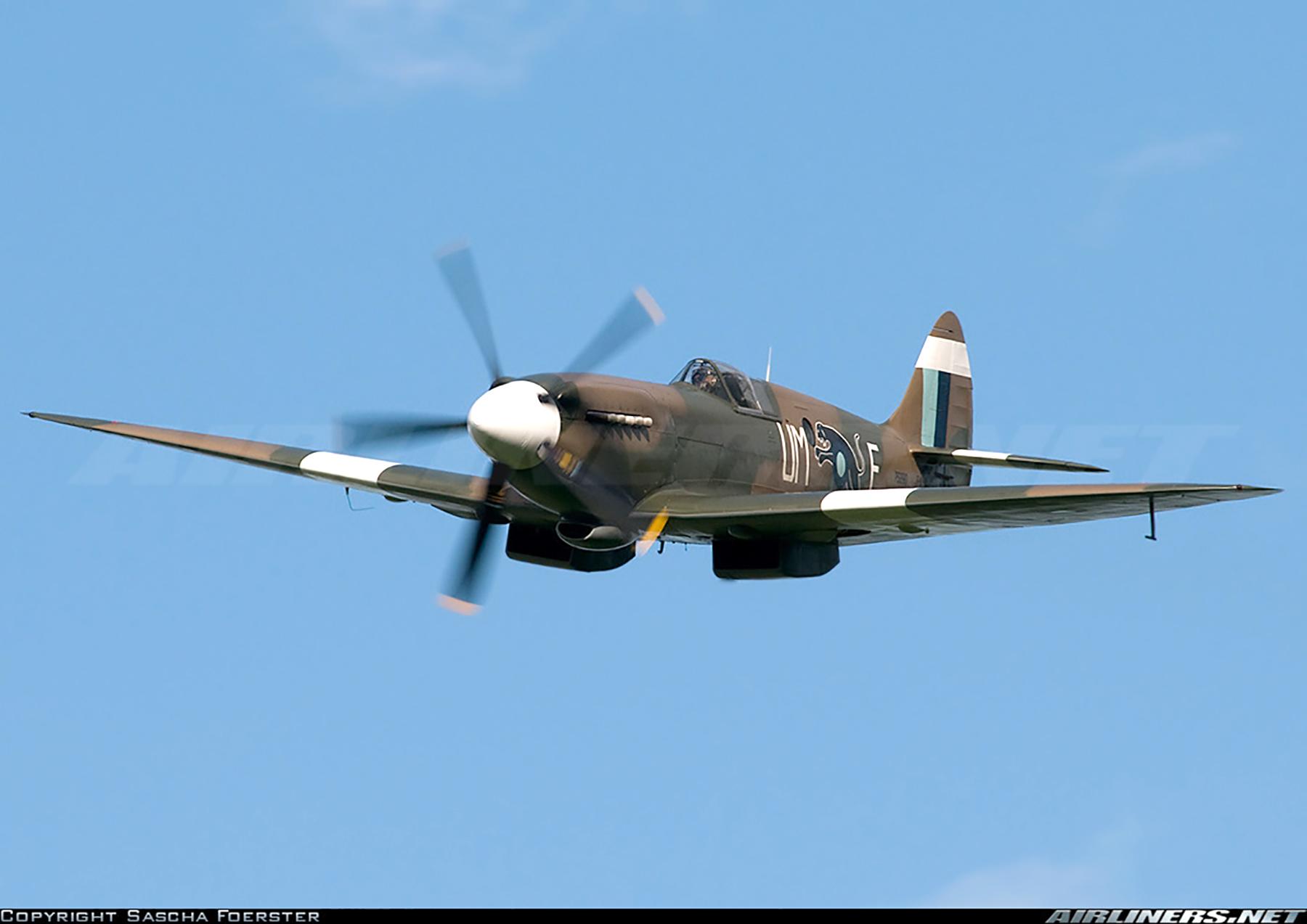 Airworthy Spitfire warbird PR19 PS890 as RAF 152Sqn UME 13