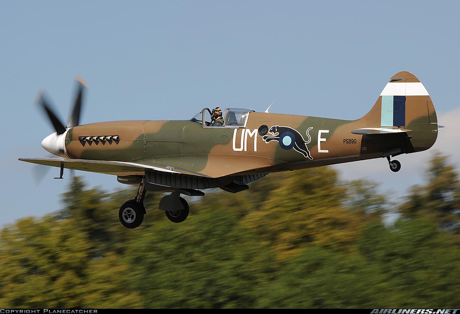Airworthy Spitfire warbird PR19 PS890 as RAF 152Sqn UME 16