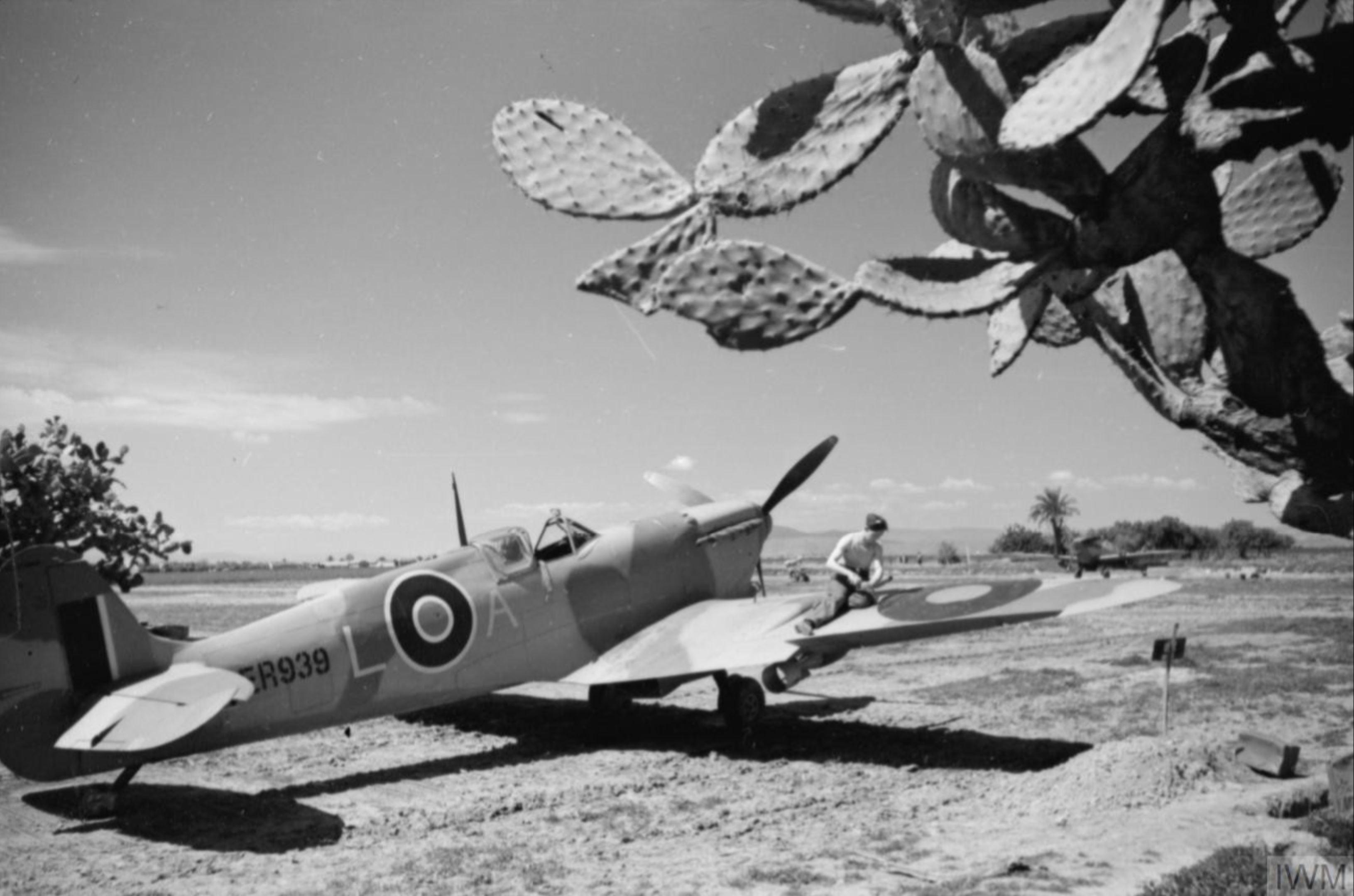 Spitfire MkVcTrop RAF 152Sqn LA ER939 at Souk el Khemis Tunisia IWM CNA4274