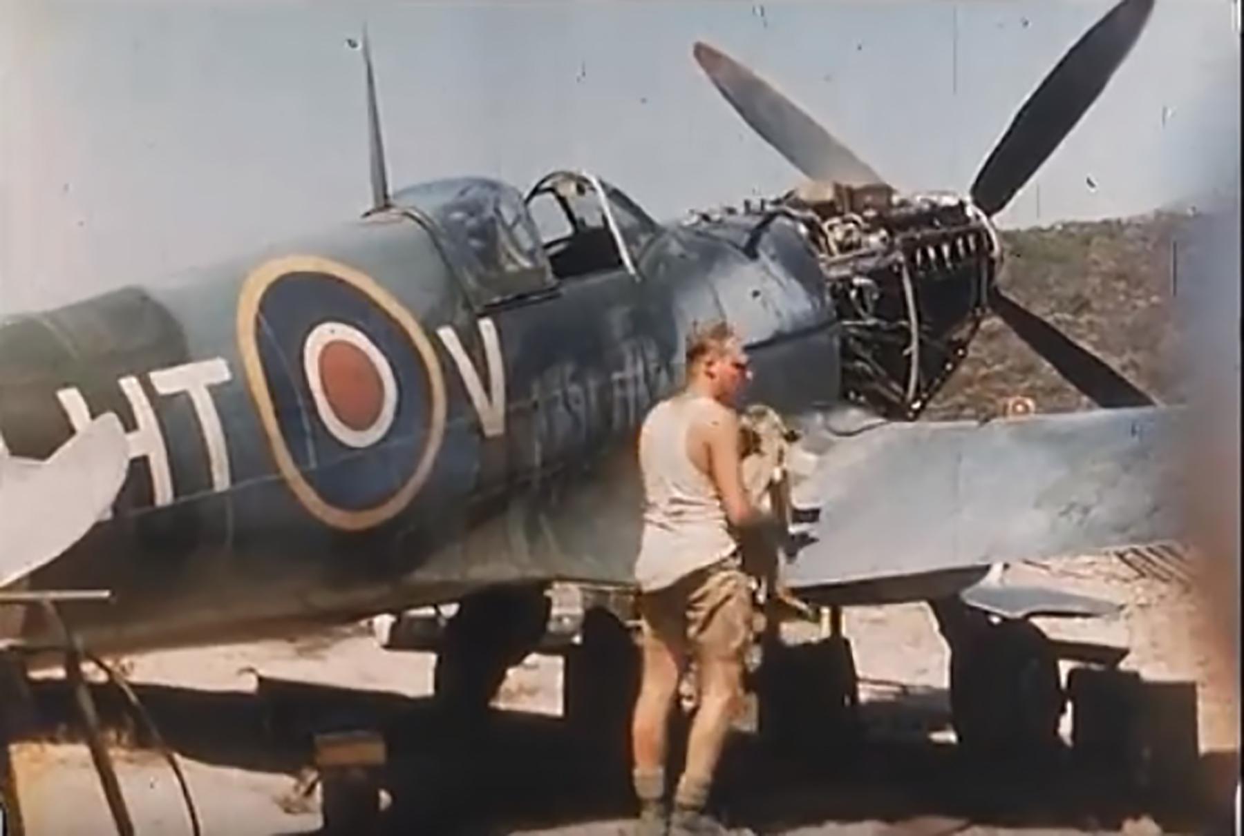 Spitfire LFIXc RAF 154Sqn HTV MK629 Corsica 1944 01