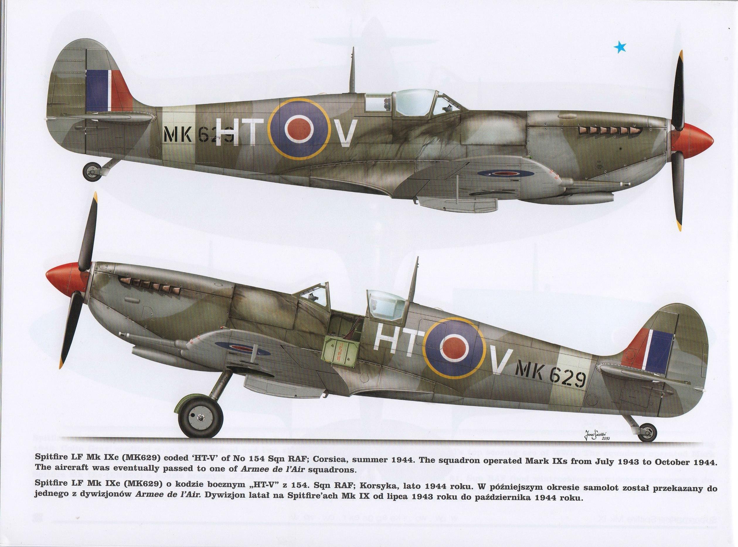 Spitfire LFIXc RAF 154Sqn HTV MK629 TC15015 Supermarine Spitfire MkIX Page 30