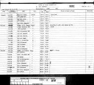 Asisbiz Aircrew RAF 154Sqn FSgt Harold Groombridge pilots log book whilst in North Africa Apr 1943 IWM