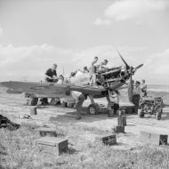 Asisbiz Spitfire MkVbTrop RAF 154Sqn HTE ER676 at Souk el Khemis Tunisia IWM CNA603