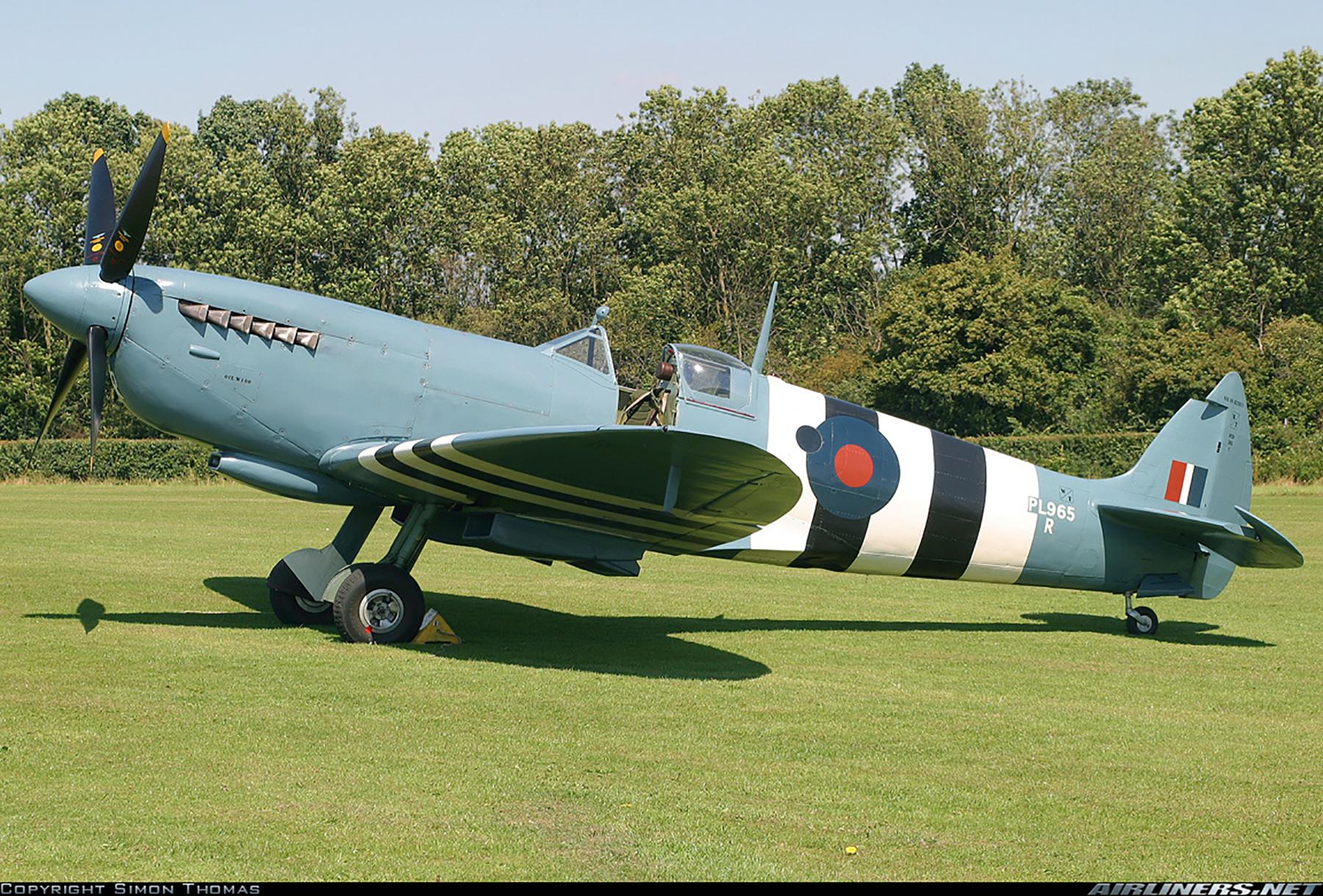 Airworthy Spitfire warbird PRXI RAF 16Sqn R PL965 17