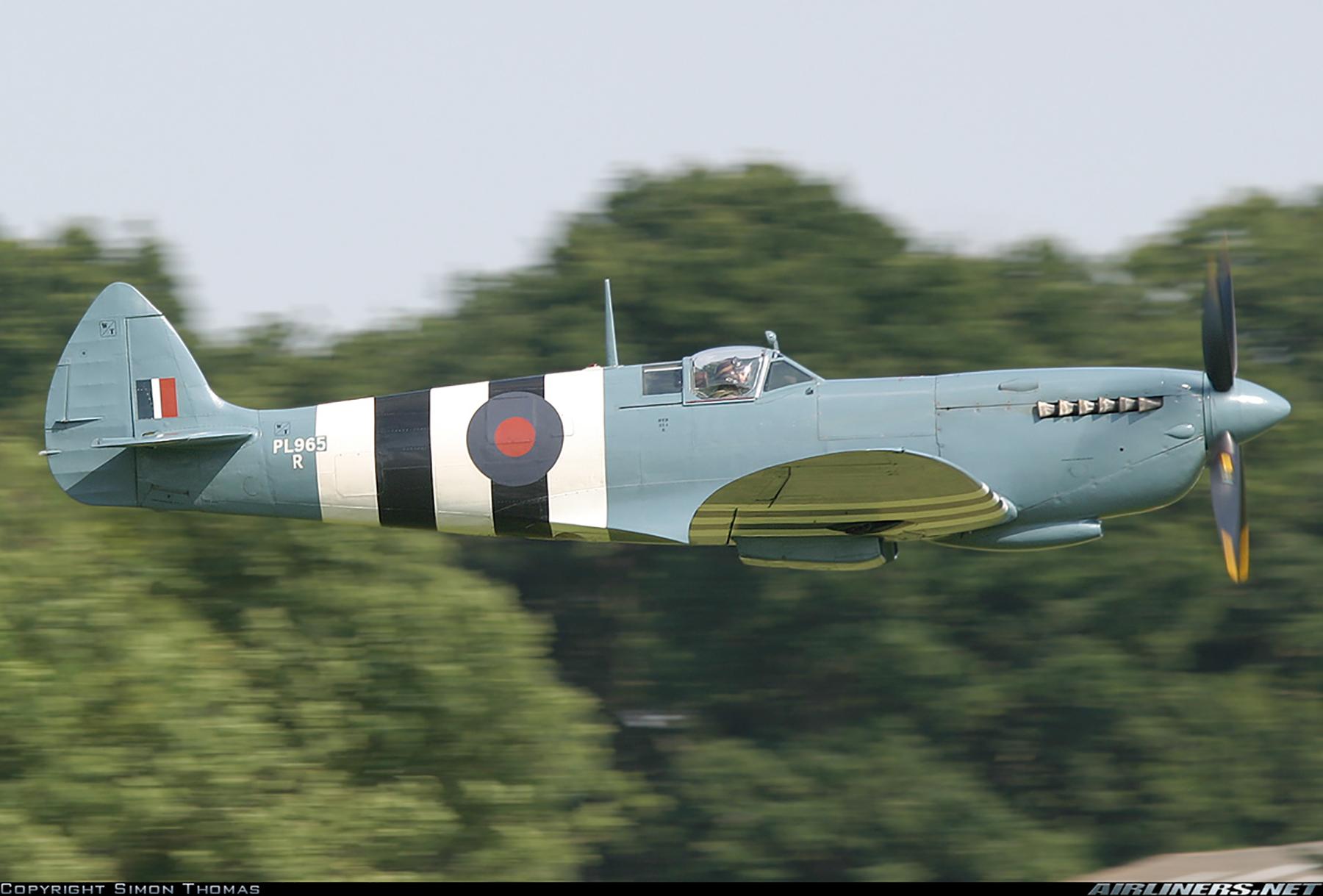 Airworthy Spitfire warbird PRXI RAF 16Sqn R PL965 18