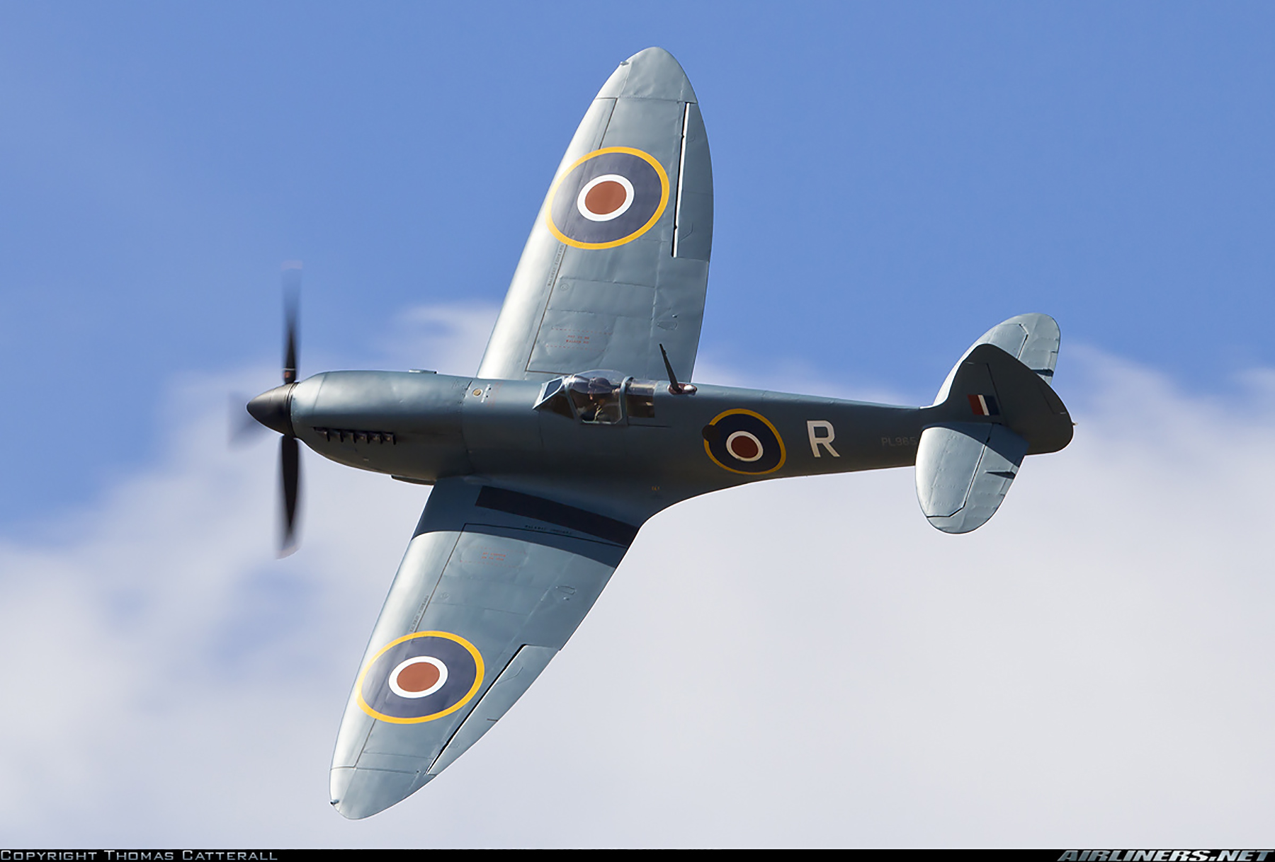 Airworthy Spitfire warbird PRXI RAF 16Sqn R PL965 pre D day 05