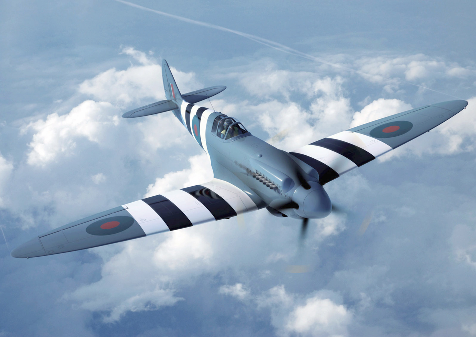 Spitfire PRXIX PM631 marked as RAF 541Sqn during June 1944 01