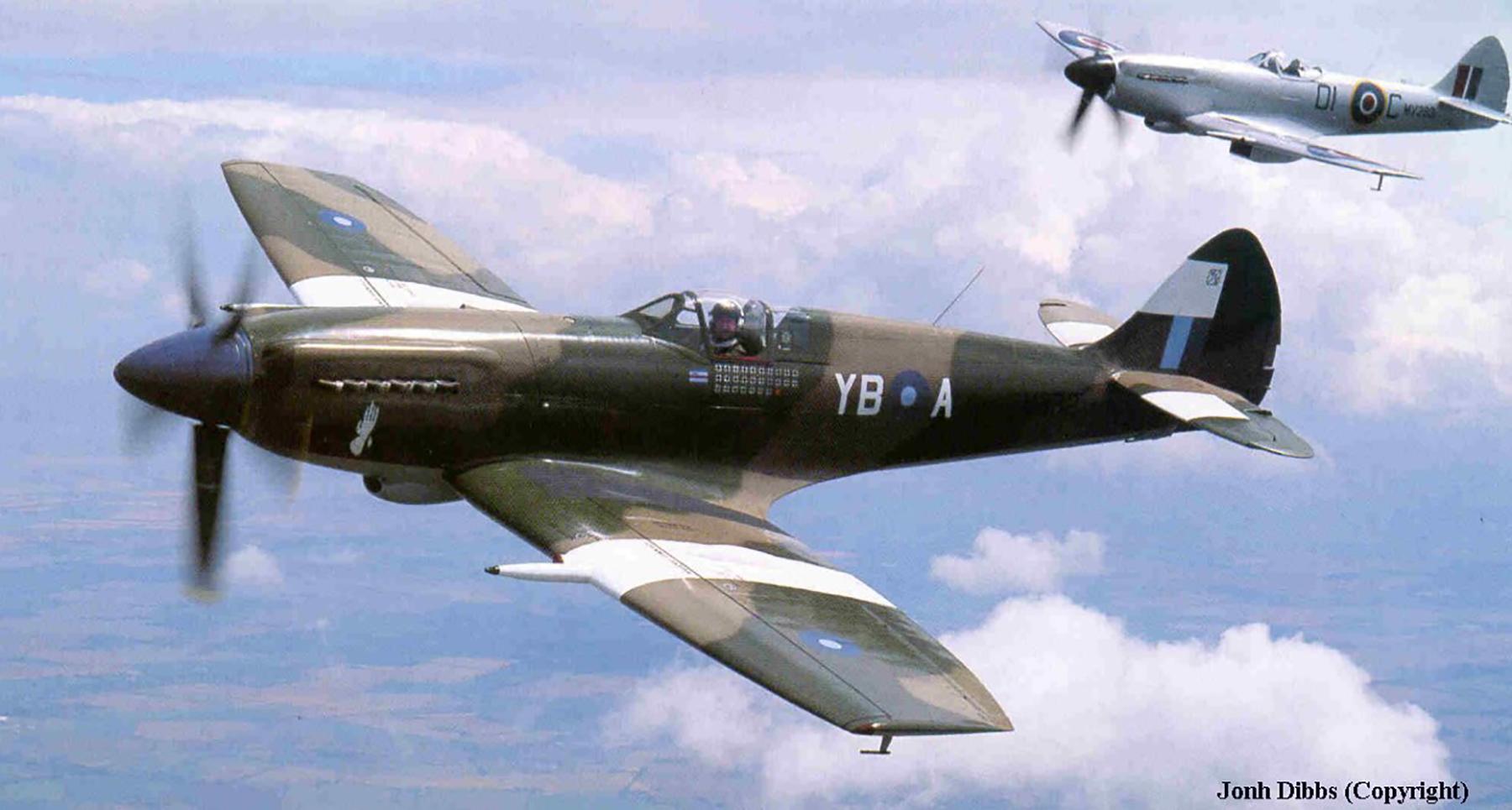 Airworthy Spitfire warbird RAF 17Sqn YBA SM832 05
