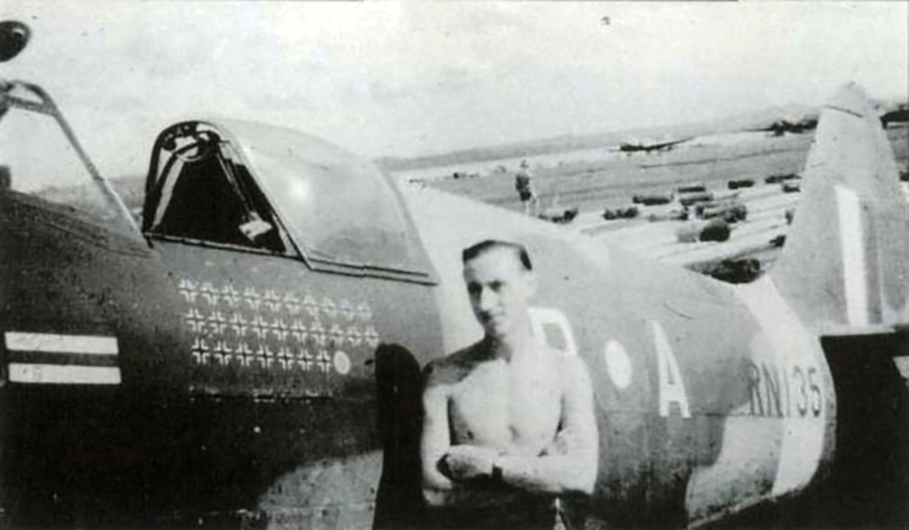 Spitfire XIVe 17Sqn YBA Lacey RN135 SEAC 1945 01