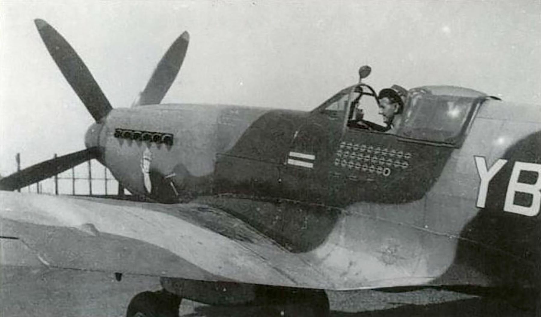 Spitfire XIVe 17Sqn YBA Lacey RN135 SEAC 1945 02