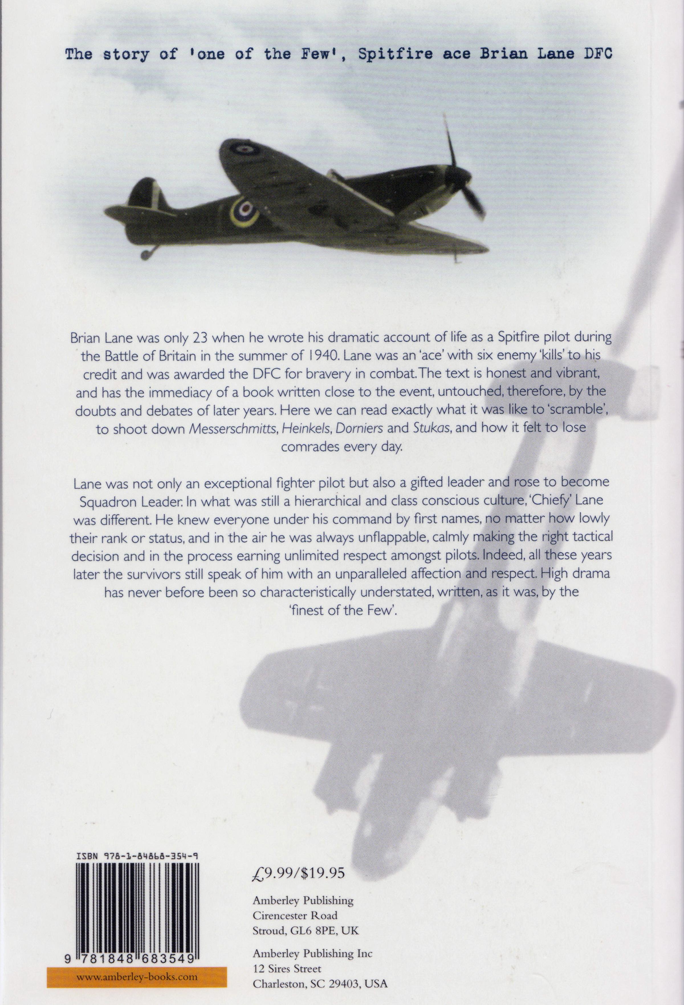 Aircrew Brian John Edward Lane Battle of Britain book 0A
