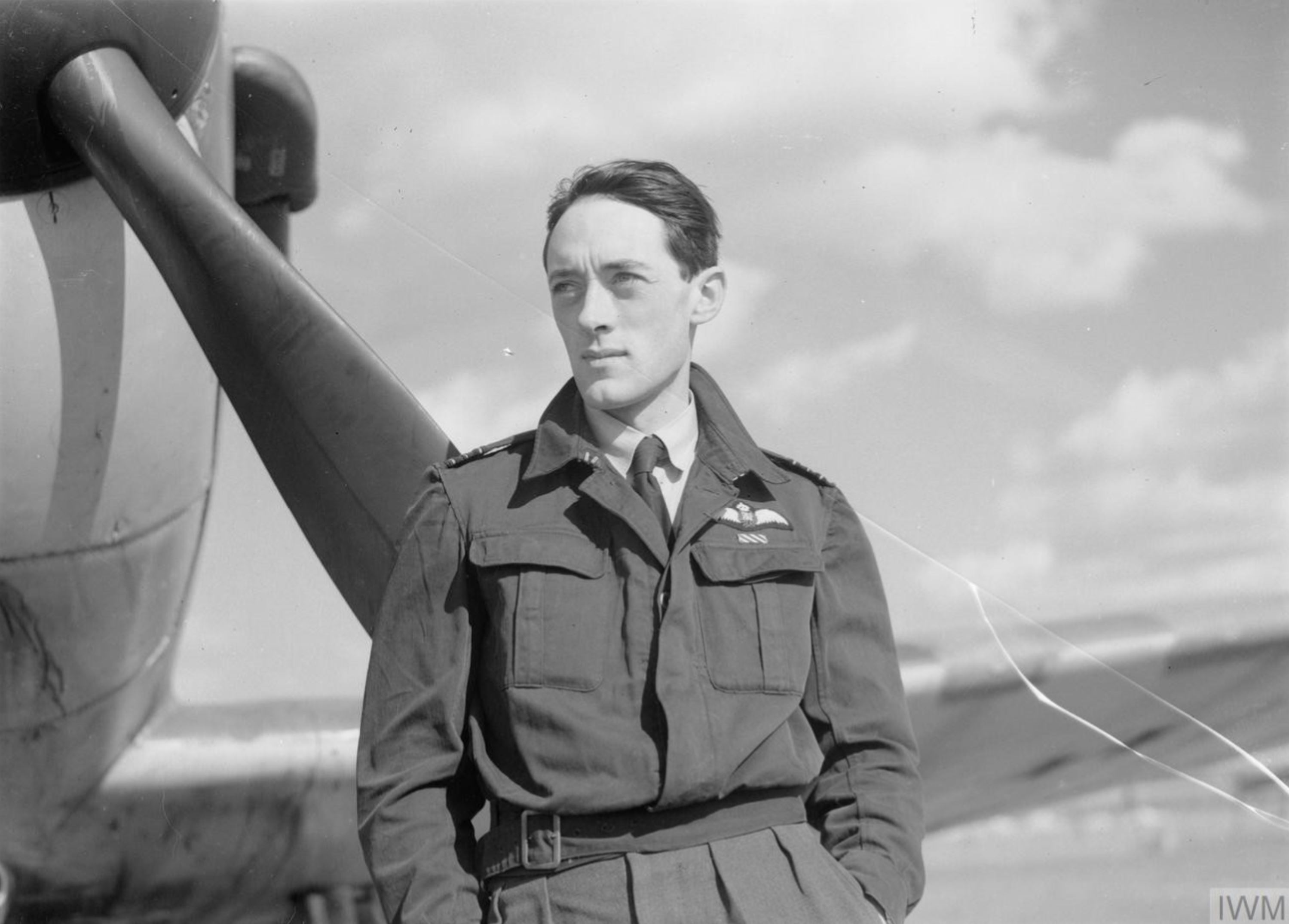 Aircrew RAF 19Sqn pilot BJE Sandy Lane at Duxford Cambridgeshire 1940 IWM CH1391