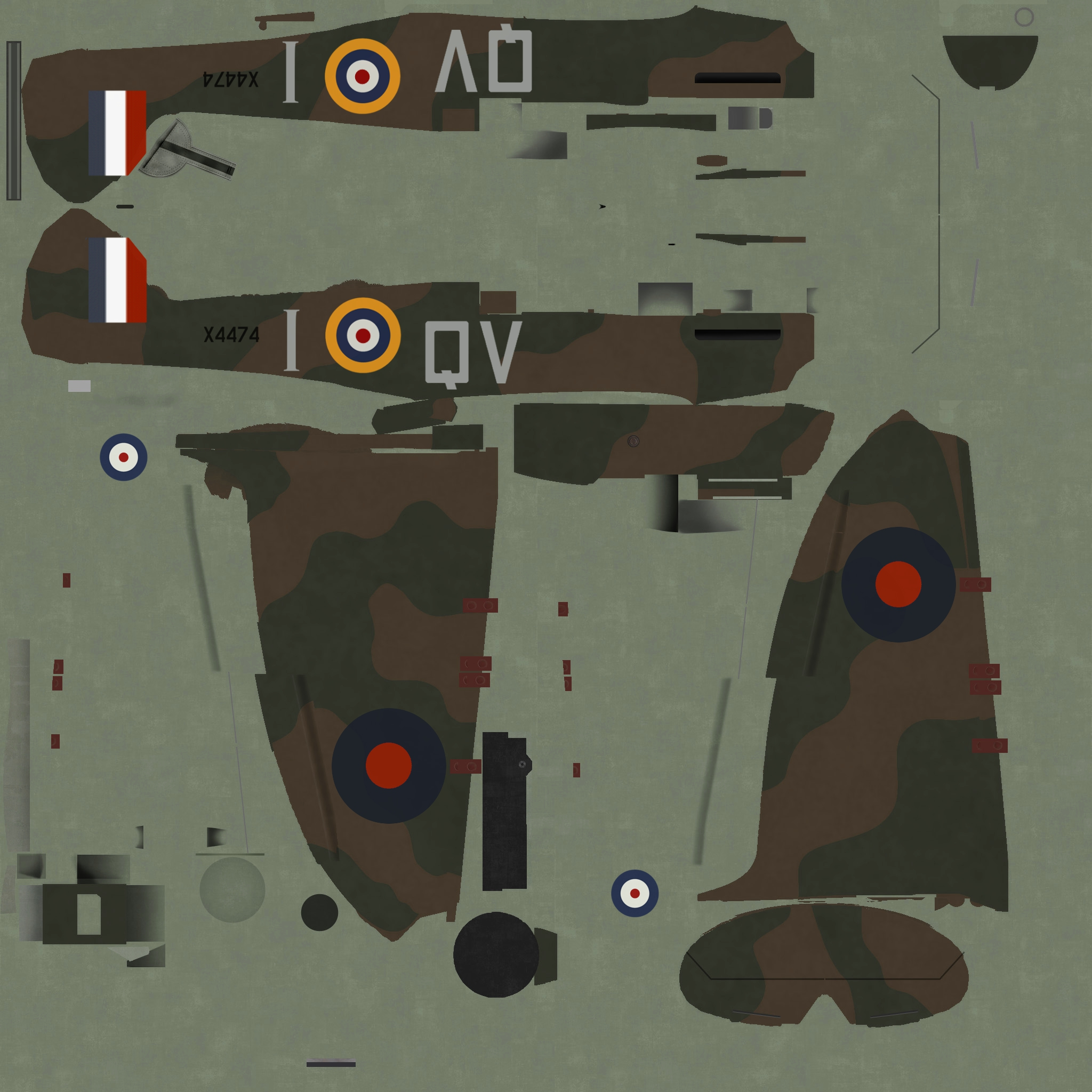 COD C6 MkIa RAF 19Sqn QVI Sgt Jennings X4474 Fowlemere Sep 1940