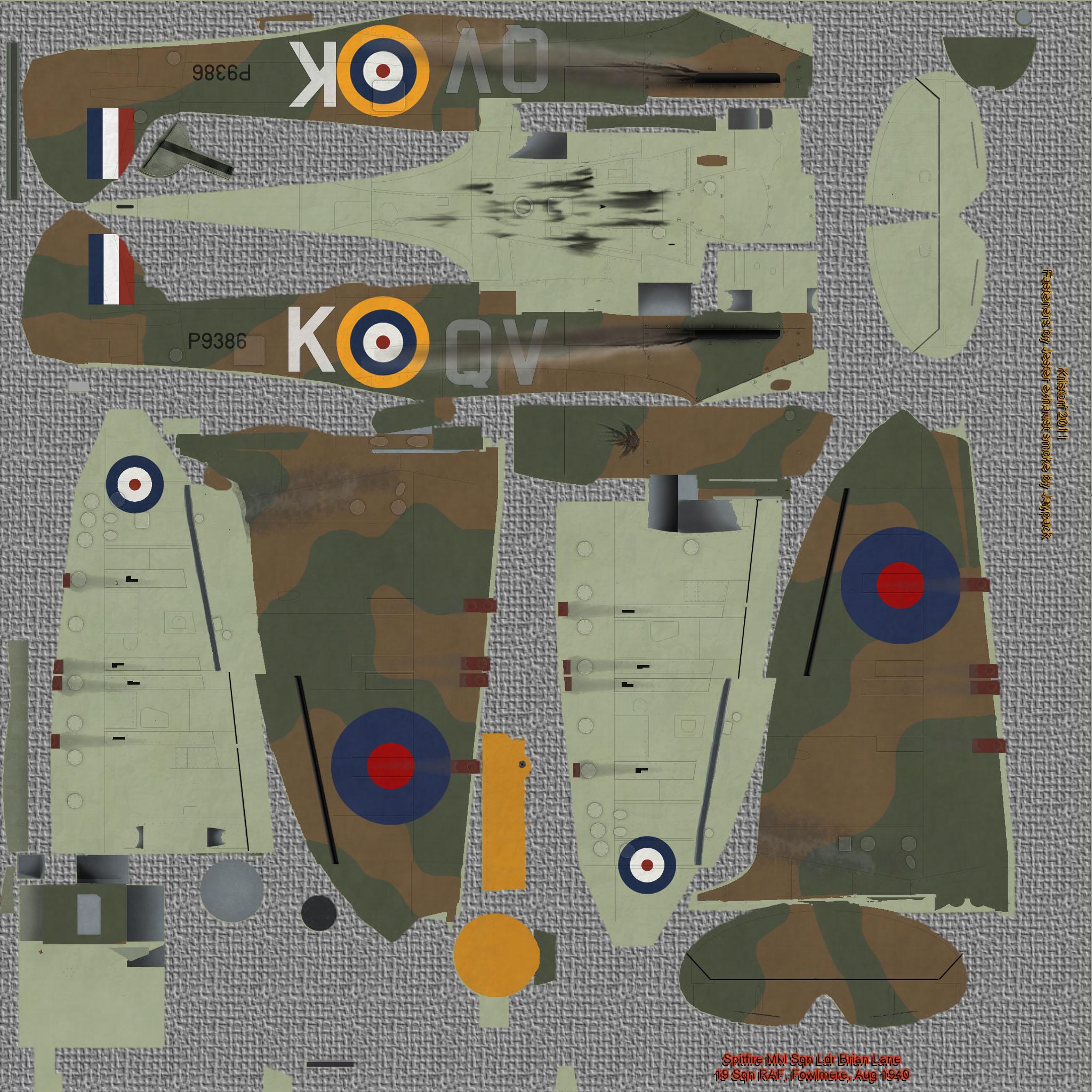 COD KF MkI RAF 19Sqn QVK Brian Lane Battle of Britain Fowlmere 1940