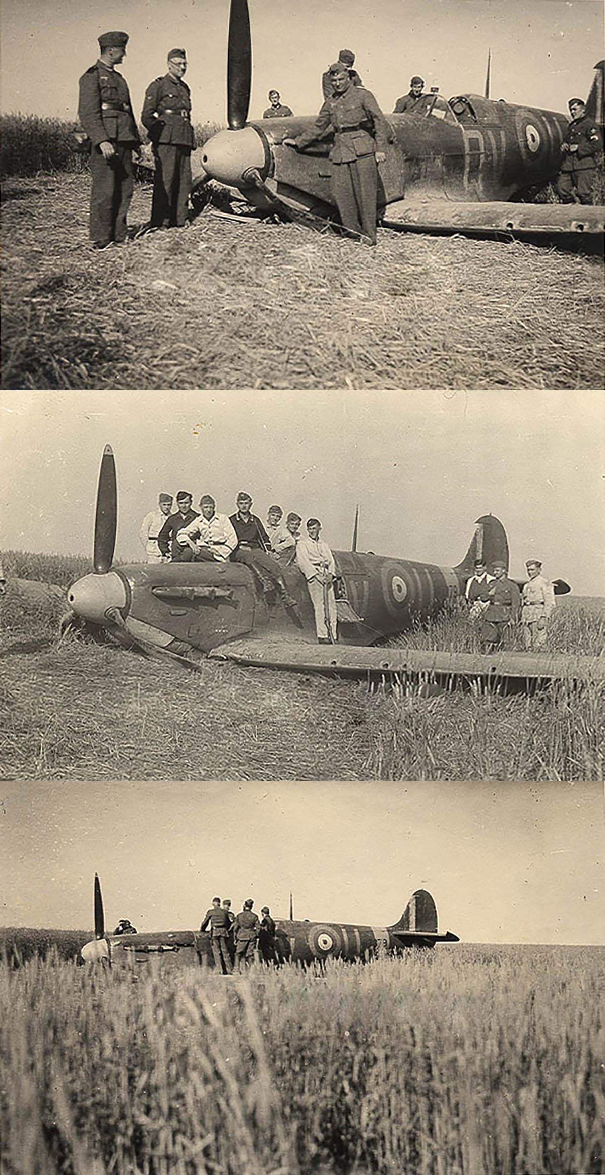 Spitfire MkIIa RAF 19Sqn QVU P7379 sd by Bf 109 and PO Andrews KIA 27th Jun 1941 03