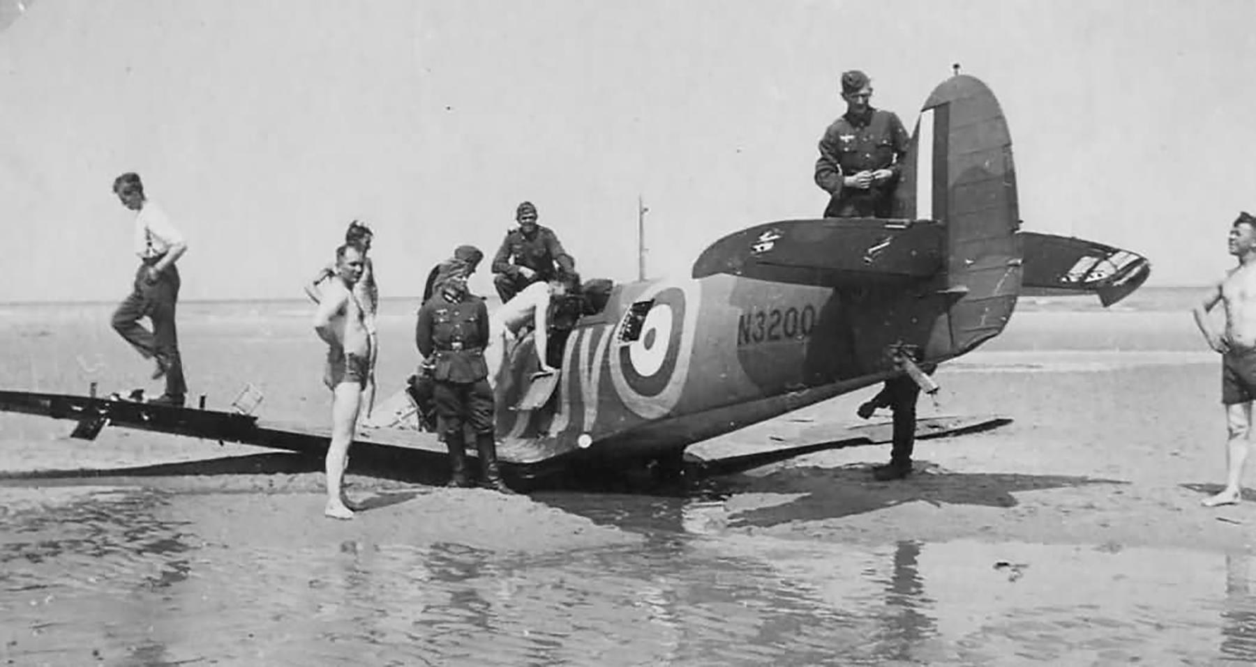 Spitfire MkIa RAF 19Sqn QV N3200 SLdr GD Stephenson POW Dunkerque 26th May 1940 05