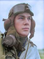 Asisbiz Aircrew RAF 19Sqn pilot Leonard Ace Haines at Fowlmere Sep 1940 01