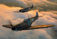 Asisbiz Airworthy Spitfire warbird MkI RAF 19Sqn QV N3200 and P9374 Aeroplane Sept 2015 01