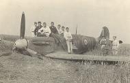 Asisbiz Spitfire MkIIa RAF 19Sqn QVU P7379 sd by Bf 109 and PO Andrews KIA 27th Jun 1941 01