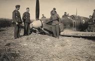 Asisbiz Spitfire MkIIa RAF 19Sqn QVU P7379 sd by Bf 109 and PO Andrews KIA 27th Jun 1941 02