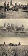 Asisbiz Spitfire MkIIa RAF 19Sqn QVU P7379 sd by Bf 109 and PO Andrews KIA 27th Jun 1941 03