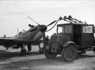 Asisbiz Spitfire MkIa RAF 19Sqn being refueled at Fowlmere during the Battle of Britain Sep 1940 IWM HU1372