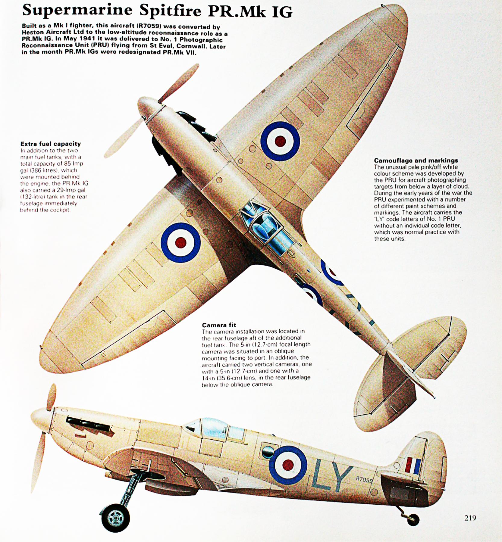 Spitfire PRIG RAF 1PRU LY R7059 St Eval Cornwall England 1941 0A