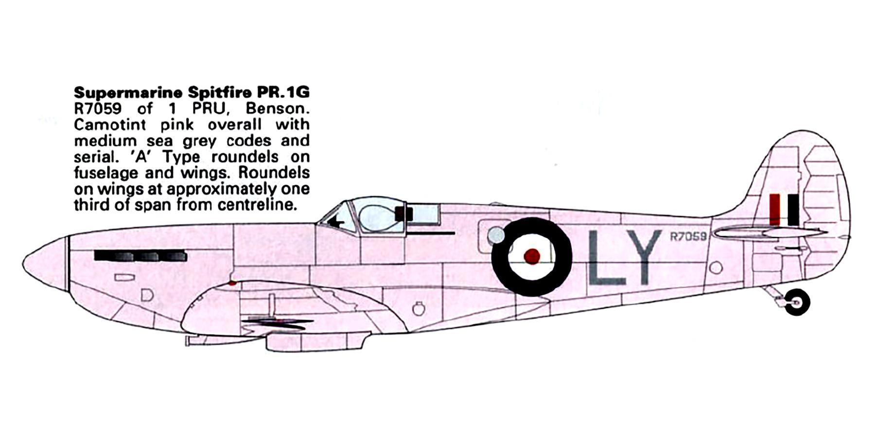 Spitfire PRIG RAF 1PRU LY R7059 St Eval Cornwall England 1941 0B