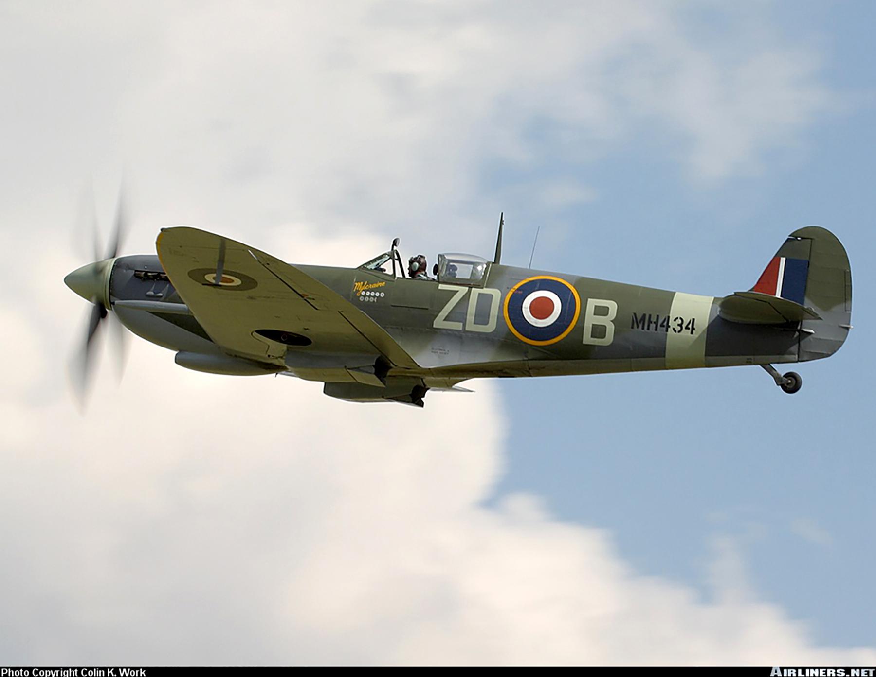 Airworthy Spitfire warbird RAF 222Sqn ZDB MH434 England 02