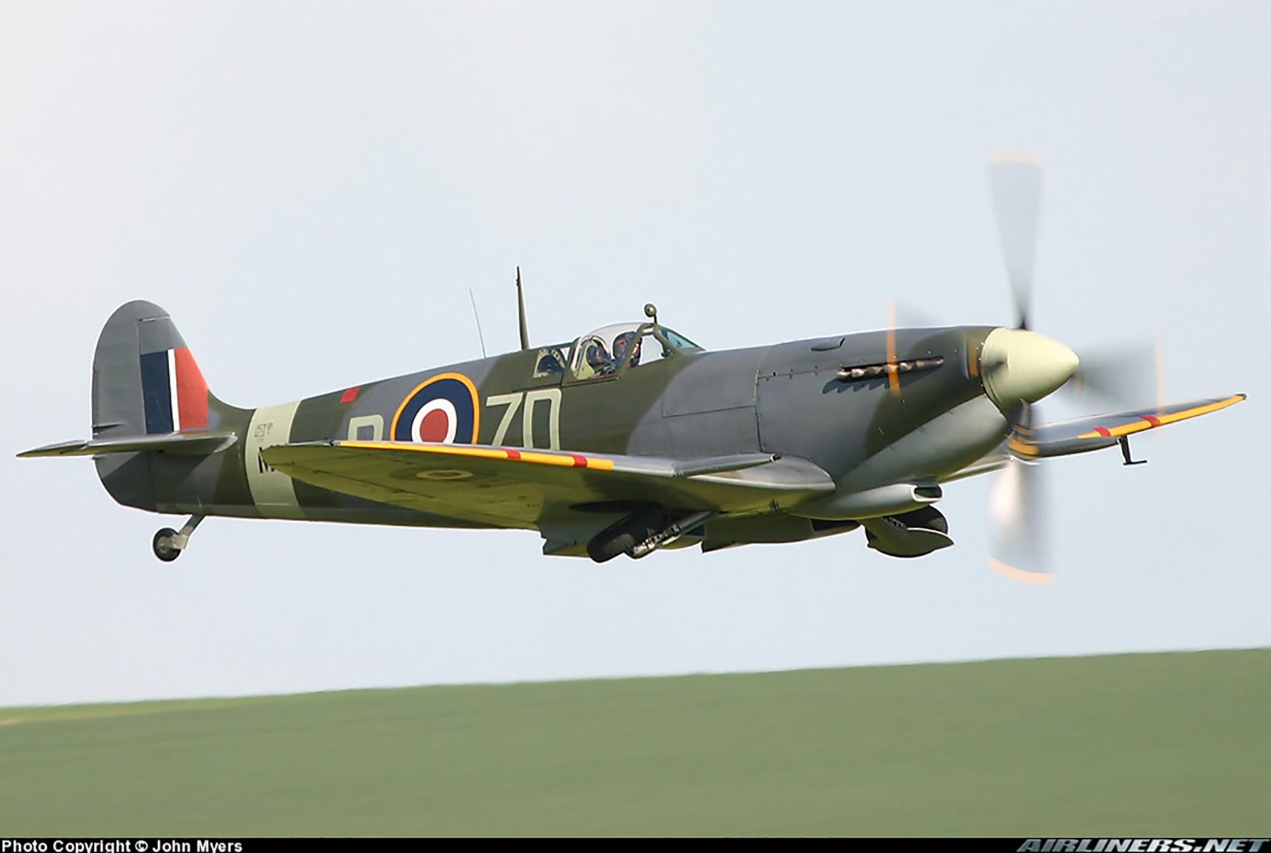 Airworthy Spitfire warbird RAF 222Sqn ZDB MH434 England 11