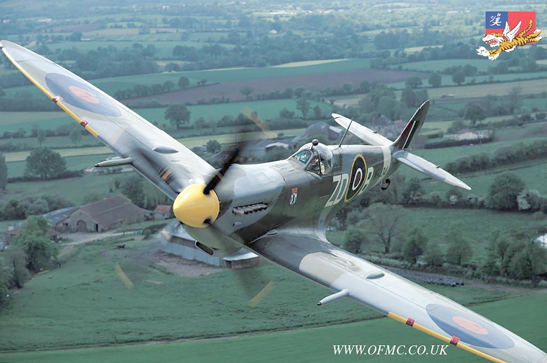 Airworthy Spitfire warbird RAF 222Sqn ZDB MH434 England 20