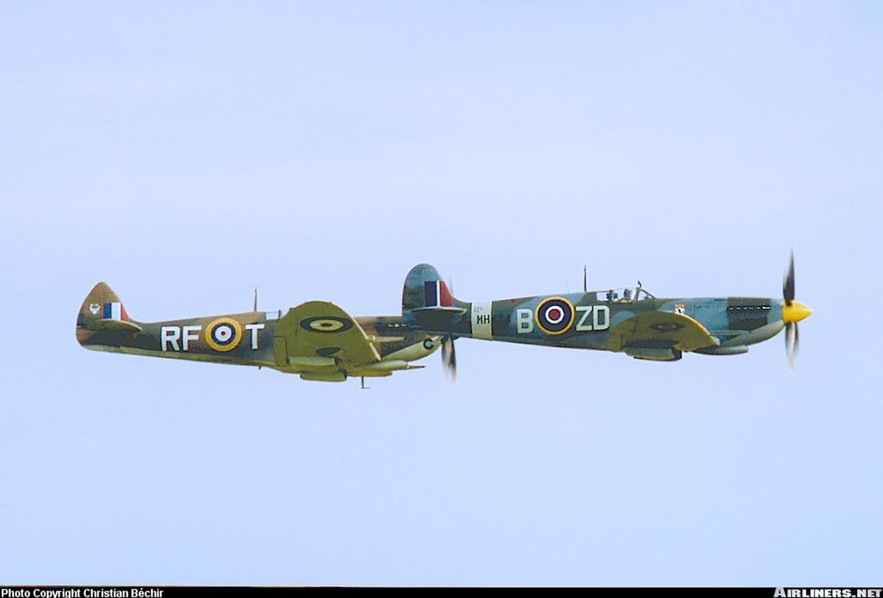 Airworthy Spitfire warbird RAF 222Sqn ZDB MH434 England 23