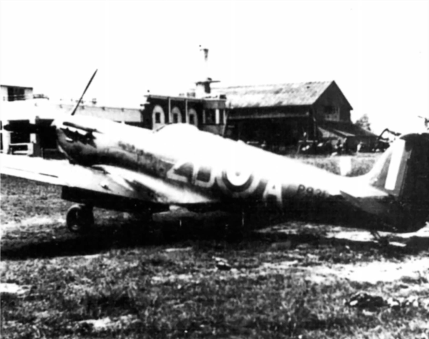 Spitfire MkIa RAF 222Sqn ZDA P9317 PO Falkust force landed Le Touquet Dunkerque 1st Jun 1940 01
