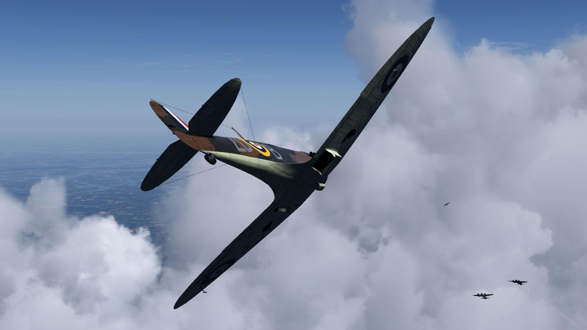 Spitfire MkIa RAF 222Sqn ZDB Battle of Britain V01