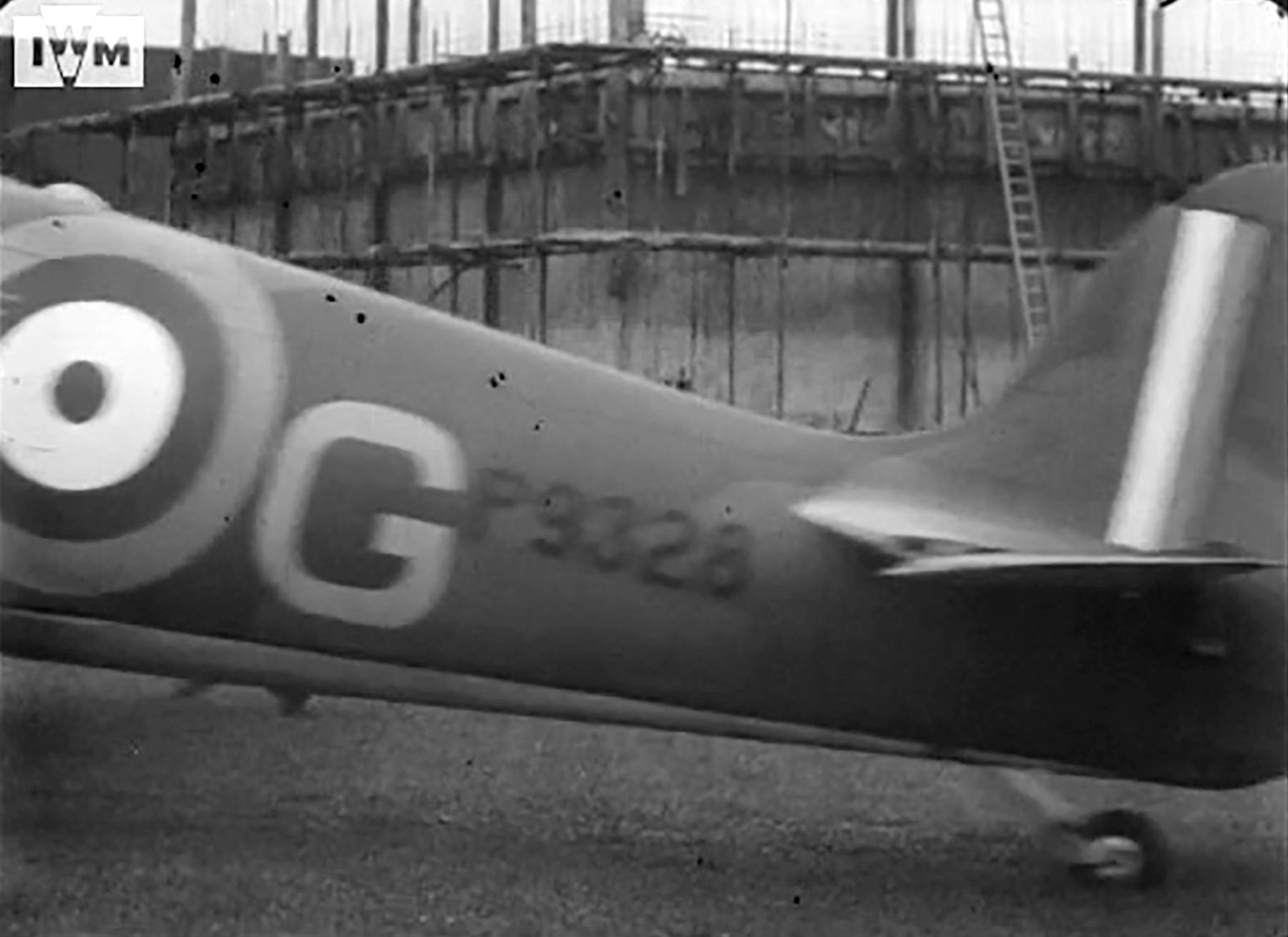 Spitfire MkIa RAF 222Sqn ZDG P9328 taking off from RAF Kirton in Lindsey Jun 1940 02