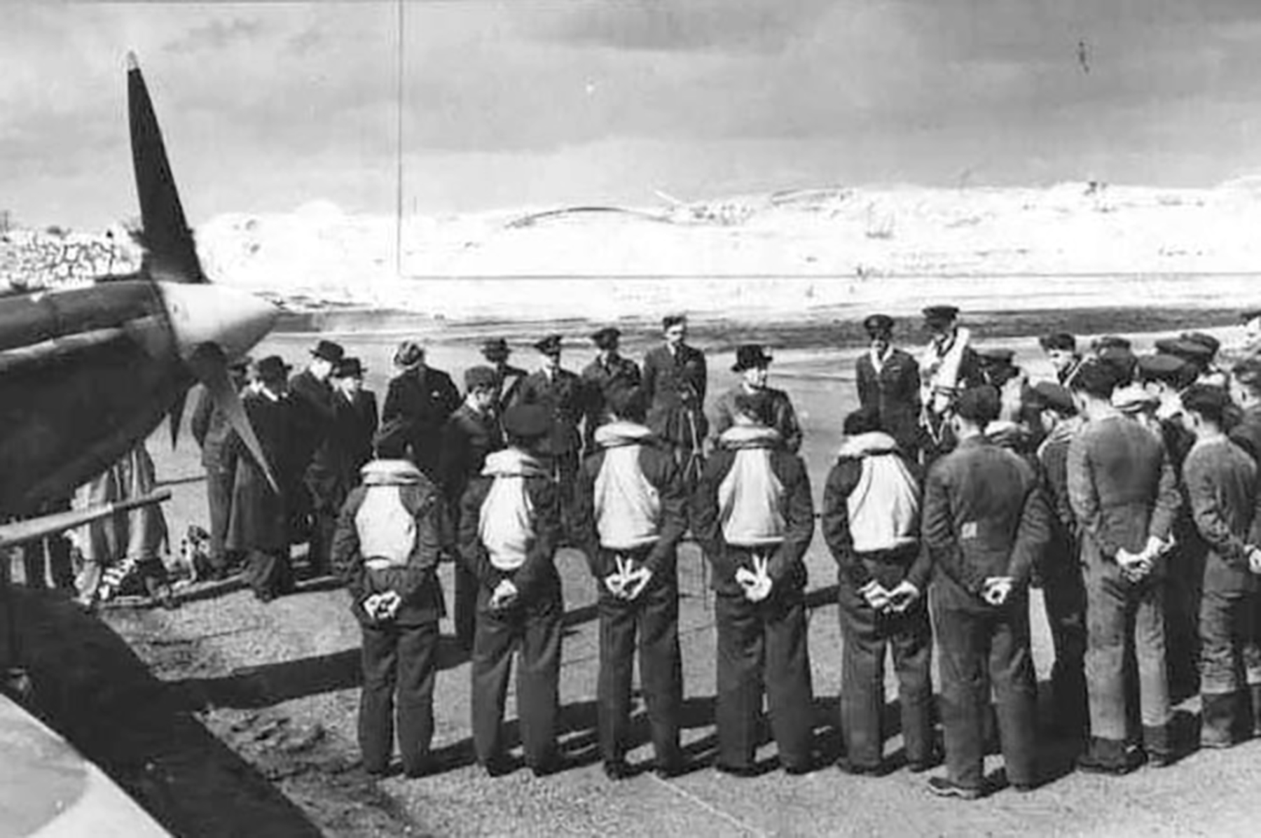 Aircrew RAF 234Sqn ceremony at RAF Station Ibsley 10th April 1942 01