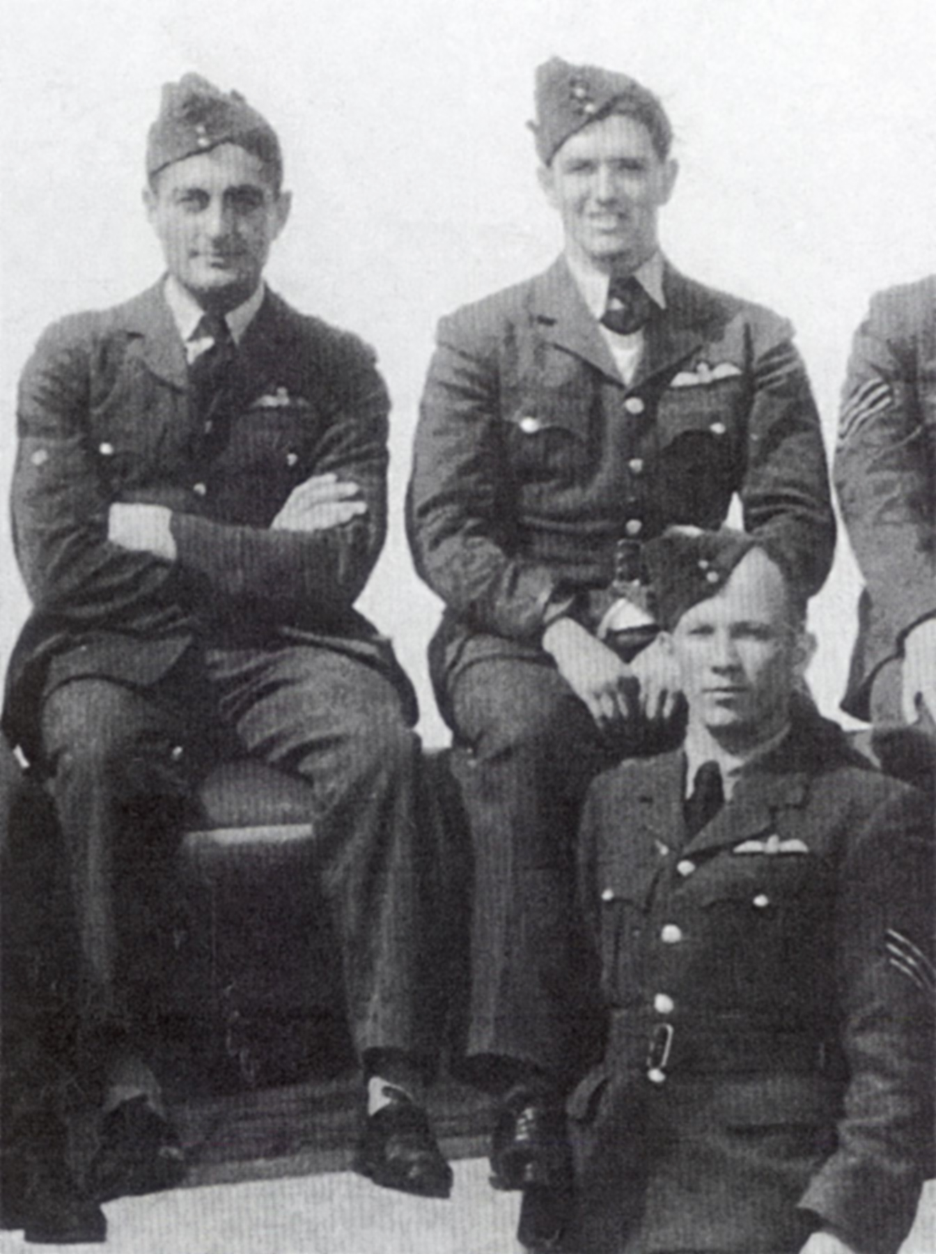 Aircrew RAF Dick Hardy Bush Parker later captured Cherbourg Aug 15 1940 01