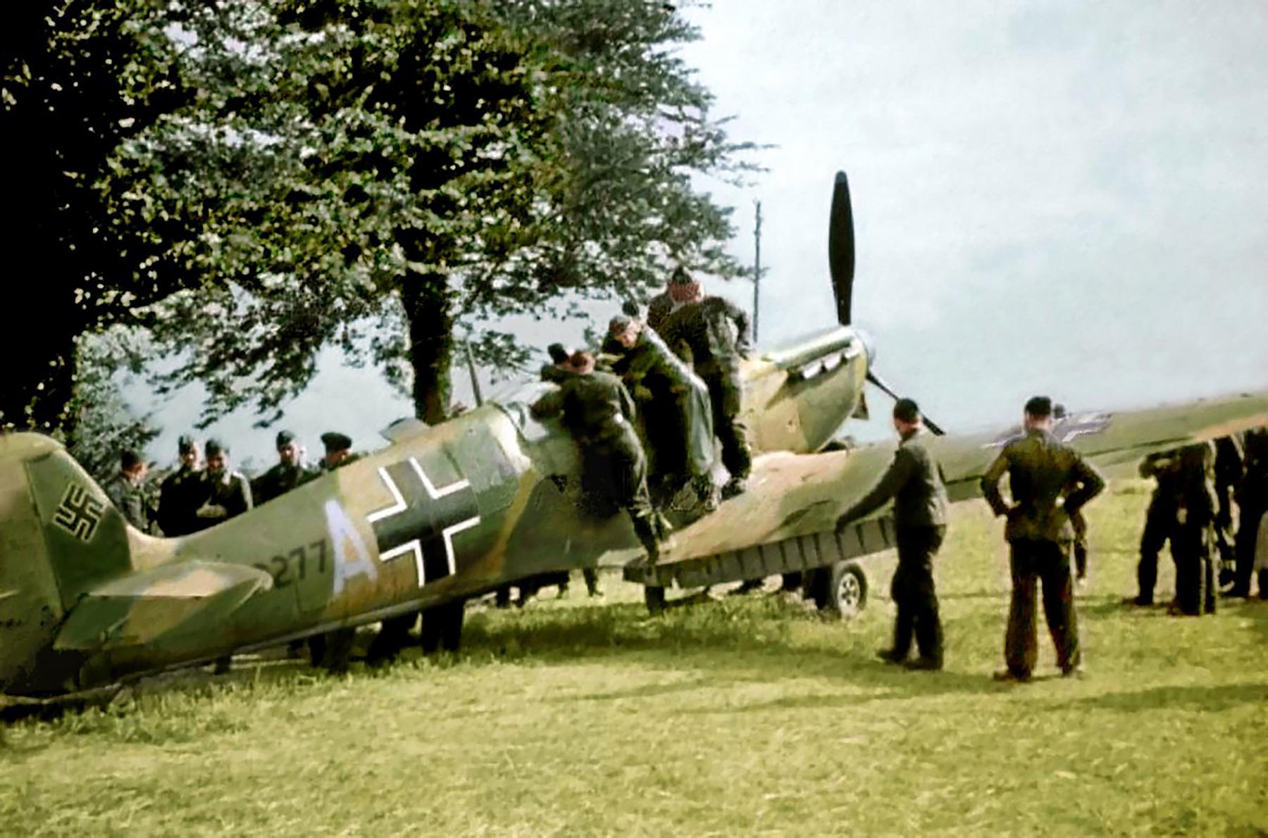Spitfire MkIa RAF 234Sqn AZH Richard Hardy N3277 forced landed Cherbourg France Aug 15 1940 06