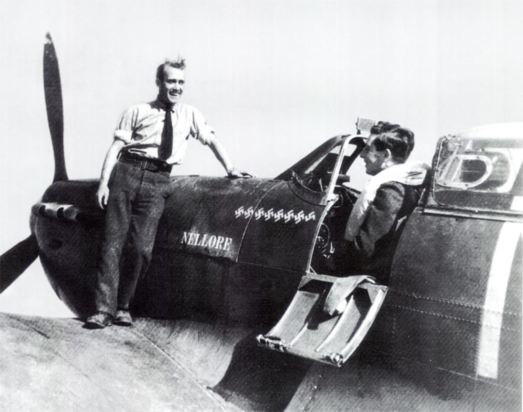 Spitfire MkIa RAF 234Sqn AZN Alan Stuart Harker Cornwall 1940 02