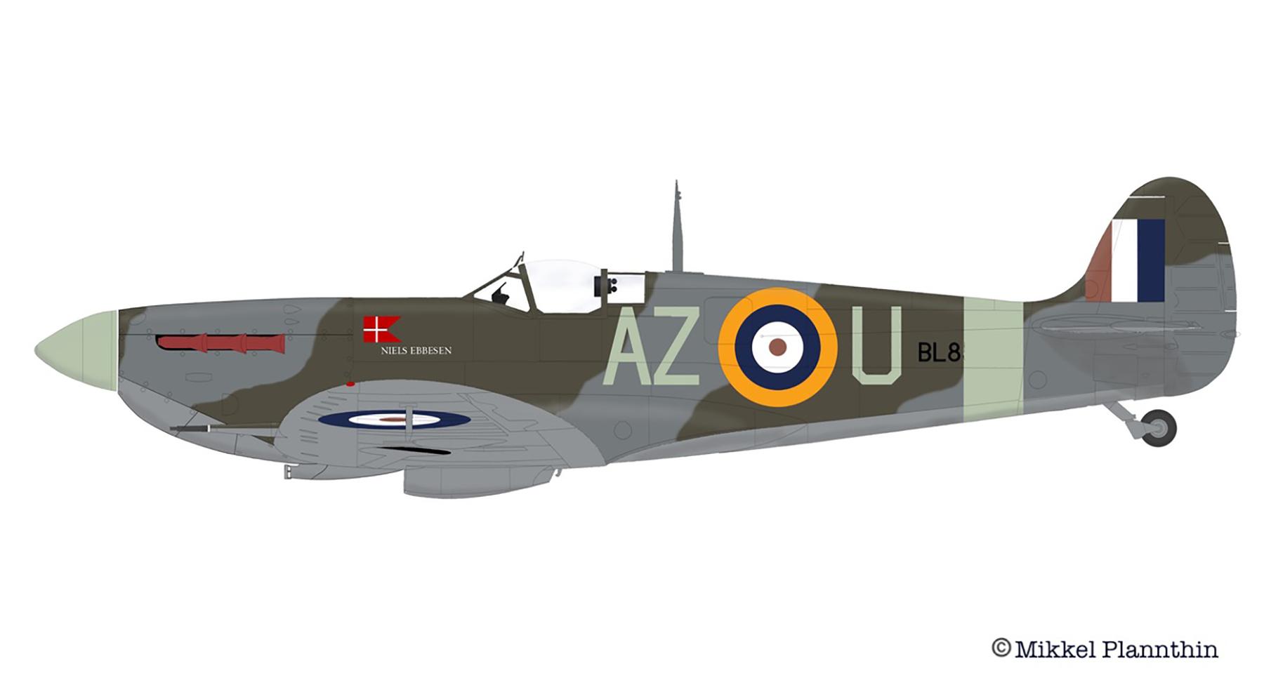 Spitfire MkVb RAF 234Sqn AZU named Niels Ebbesen BL855 April 1942 by Mikkel Plannthin 0A
